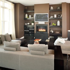 Modern Family Room by The Premier Group - Luxury Electronic Lifestyles