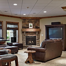 Traditional Family Room by Todd Michael Builder Developer, Inc