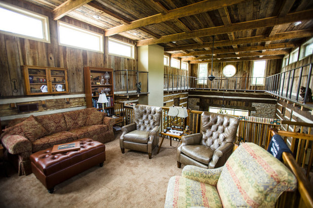 Lovely Rustic Family Room by Wilmes u Associates Architects