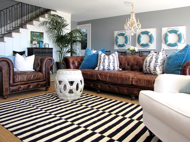 American Traditional Family Room by Tara Bussema