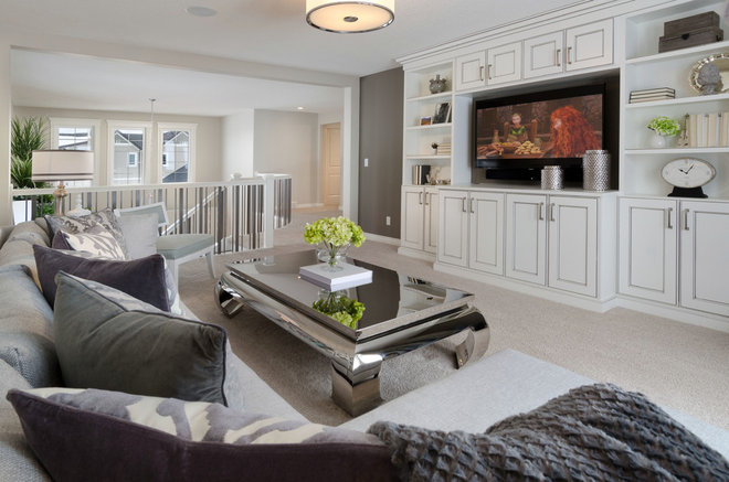 Contemporary Family Room by Morrison Homes