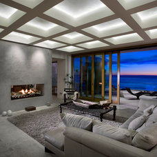 Contemporary Family Room by Vero Italian Plaster