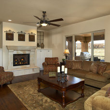 Traditional Family Room by Celebrity Communities