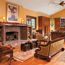 Craftsman Family Room by Housetrends Magazine