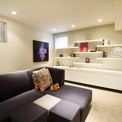 contemporary family room by Fifth Element Homes