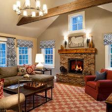 Traditional Family Room by Terrat Elms Interior Design