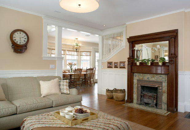 Transitional Family Room by AbbeyK, Inc.