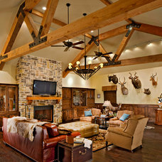 Traditional Family Room by Barbara Gilbert Interiors