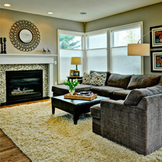Contemporary Family Room by Judith Balis Interiors