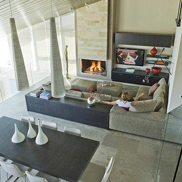Three Arch Bay Residence - family room