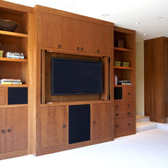 asian media room by Mahoney Architects & Interiors