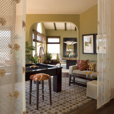 Mediterranean Family Room by Nancy Van Natta Associates