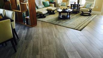 Tile floors (wood-look tile planks)