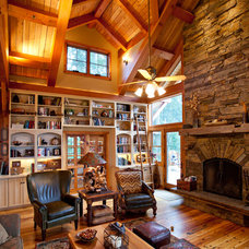 Traditional Family Room by Texas Timber Frames