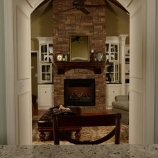 Traditional Family Room by L&M Interior Design