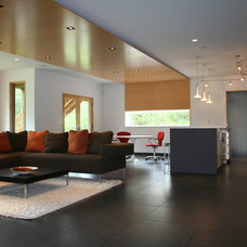 Modern Family Room by SALA Architects