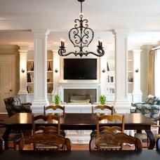 Traditional Family Room by Heintzman Sanborn Architecture~Interior Design