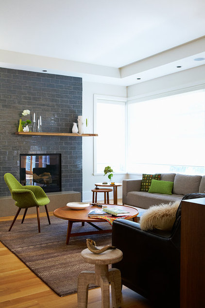 Contemporary Family Room by Gregory Roth Design