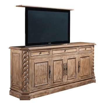 Torsal TV Lift Furniture Cabinet, US Made TV Lift Furniture by Cabinet Tronix
