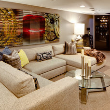 Eclectic Family Room by Mark Teskey Architectural Photography