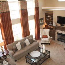 Contemporary Family Room by Anna Davis Brown