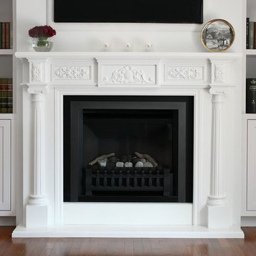 Traditional Built-in Wall Unit and Fireplace