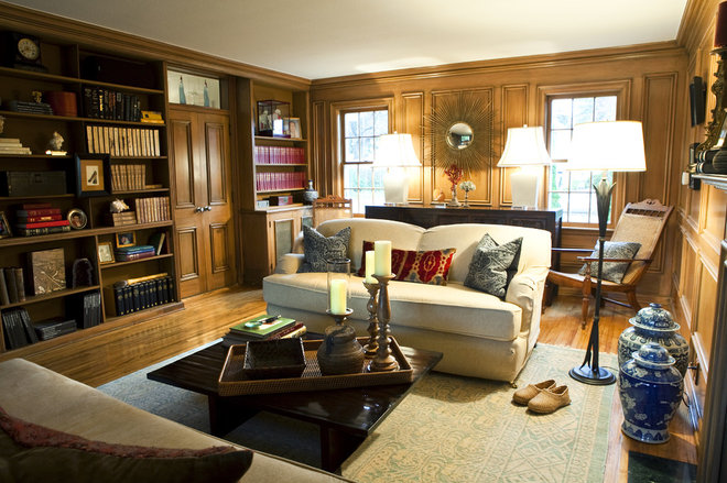 Traditional Family Room by Kerry Ciardelli