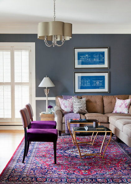 Traditional Family Room by Andrea Brooks Interiors