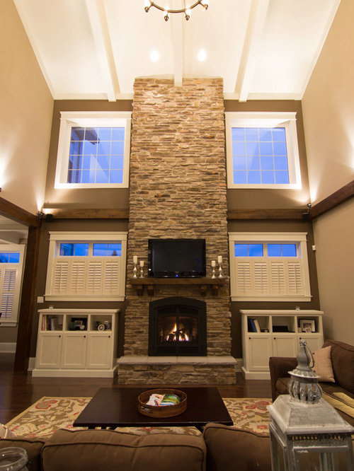 Two Story Stone Fireplace Ideas Pictures Remodel And Decor
