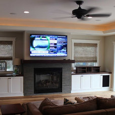 Traditional Family Room by D'Ambra Construction