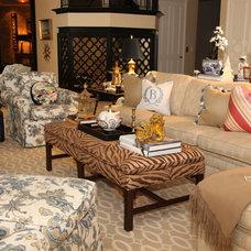 Traditional Family Room by Deborah Houston Interiors