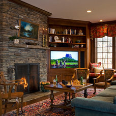 Traditional Family Room by Elizabeth Swartz Interiors
