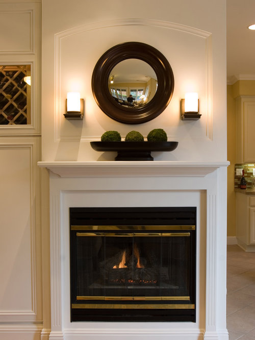 Wall Sconces For Fireplace : Sconces Over Fireplace Houzz