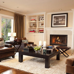 contemporary family room by Garrison Hullinger Interior Design Inc.
