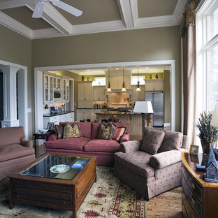 Family room - traditional family room idea in Charlotte