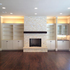 traditional family room by ICF Custom Homes