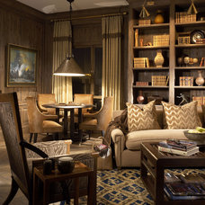 Traditional Family Room by Jessica Lagrange Interiors