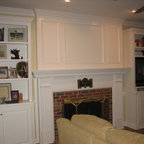 Shaker Style Bookcases Traditional Living Room New