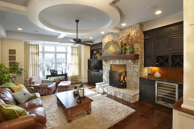 Traditional Family Room By Kristin Petro Interiors Inc