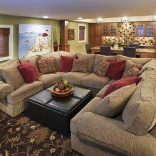 Traditional Family Room by Kristin Petro Interiors, Inc.