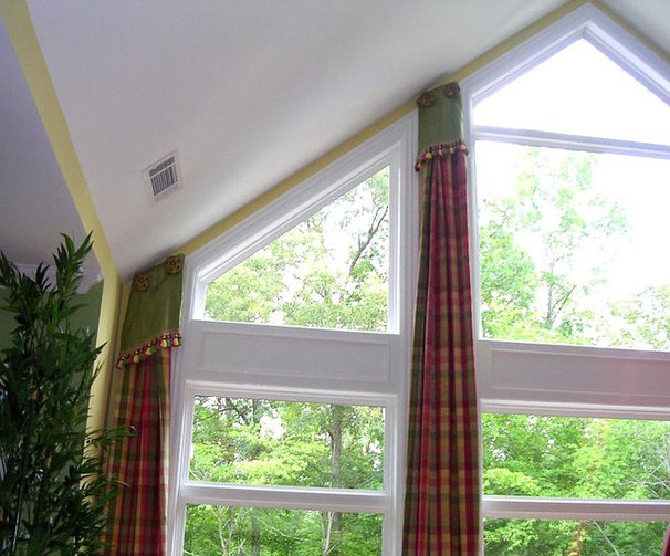 Traditional Family Room by Lady Dianne's Custom Window & Bed Treatments