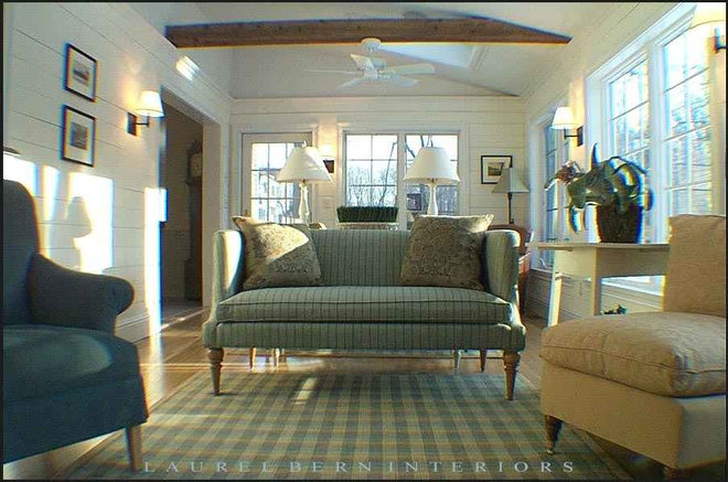 Traditional Family Room by Laurel Bern