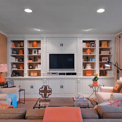 traditional family room by HarLoe Interiors