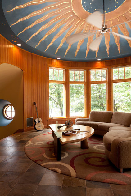 Traditional Family Room by M|A|Peterson