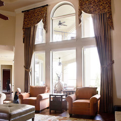 traditional family room by Karen Davis Design
