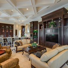 Traditional Family Room by Michael Laurenzano Photography