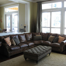 Traditional Family Room by Michelle Yorke Interior Design LLC