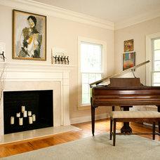 Traditional Living Room by Rachel Belden Interior Design LLC