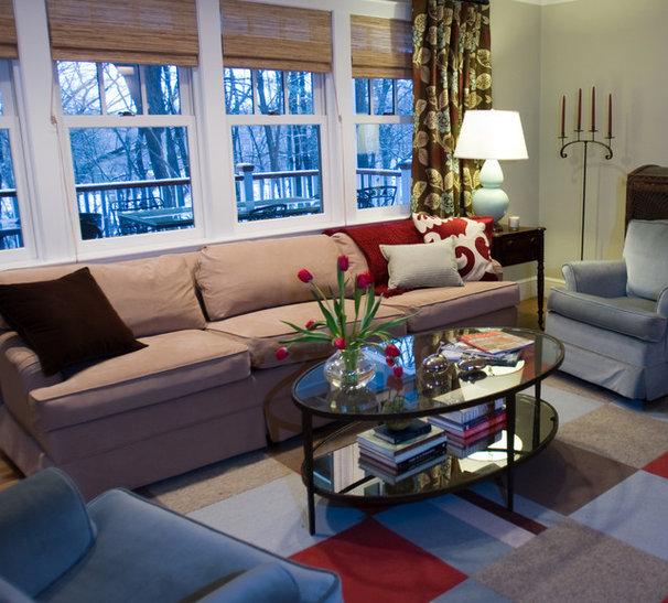 Traditional Family Room by Rachel Reider Interiors