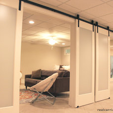 Traditional Family Room by Real Sliding Hardware